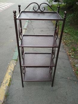 Стеллажи и этажерки - Этажерка кованая металлическая Э-2, 0