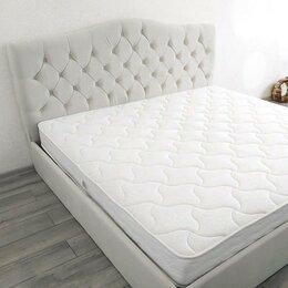 Кровати - Кровать с матрасом из лдсп массив экокожа и…, 0