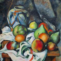 """Картины, постеры, гобелены, панно - Картина """" Натюрморт с фруктами"""" П. Сезанн, 0"""