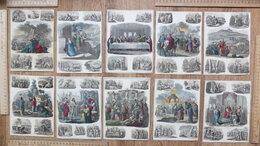 Картины, постеры, гобелены, панно - гравюры ручная раскраска, начало 19 века,…, 0