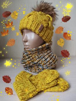 Шарфы и платки - Вязаный детский шарфик-снуд (ручной работы) , 0