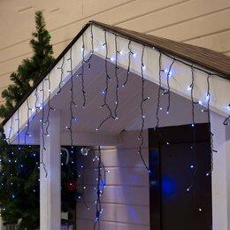 """Украшения для организации праздников - LED гирлянда """"Бахрома"""" уличная, 3 х 0.6 м, Каучук, Бело-голубой, 0"""