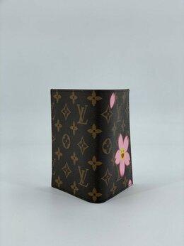 Обложки для документов - Обложка на паспорт Louis Vuitton кожаная черная…, 0