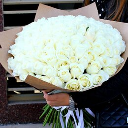Цветы, букеты, композиции - 101 роза. Букет №89, 0