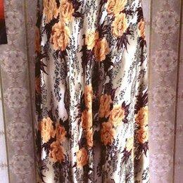 Юбки - Длинная летняя юбка с цветочным рисунком, р.42-46, 0