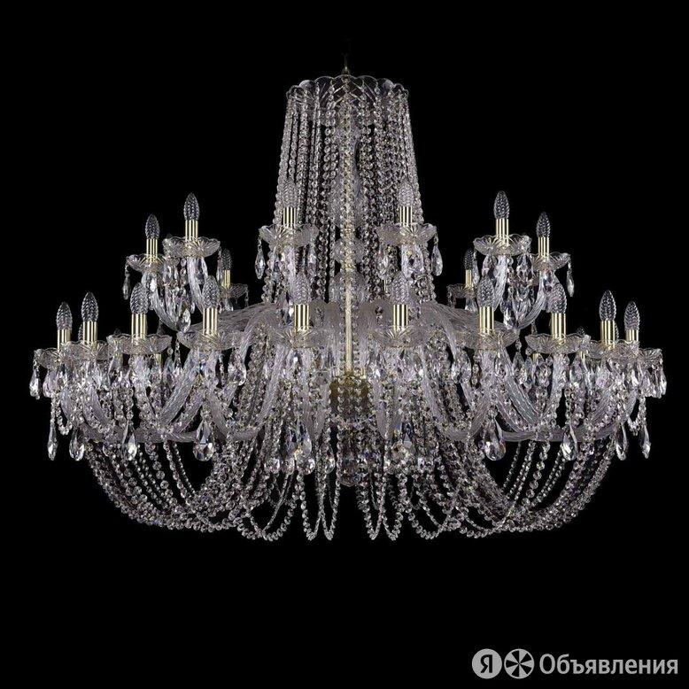 Люстра подвесная хрустальная золото 1402/24+12/530 G по цене 201017₽ - Люстры и потолочные светильники, фото 0