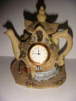 Часы настольные и каминные - Часы чайник керамика Германия винтаж 80х , 0