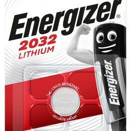 Батарейки - Элемент питания литиевый Lithium CR2032 BL1 (1/10/140) (блист.1шт) Energ..., 0