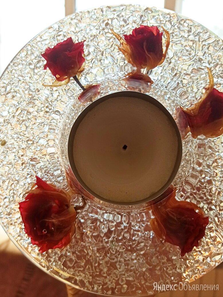 """Продам подсвечник """"розы в хрустале"""" по цене 201₽ - Ночники и декоративные светильники, фото 0"""