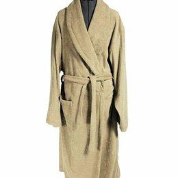 Домашняя одежда - Халат мужской махровый, шалька ЭЛИТ Бежевый размер 50, 0