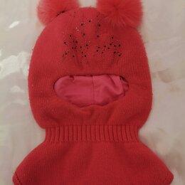 Головные уборы -  Шапка-шлем зимняя детская для девочки 4-7 лет, 0