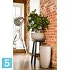 Высокое кашпо IDEALIST LITE Лотус круглое, серо-коричневое 30-d, 58-h по цене 4373₽ - Горшки, подставки для цветов, фото 4