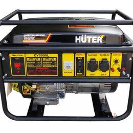 Электрогенераторы и станции - Электрогенератор dy5000l HUTER , 0