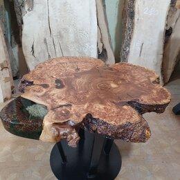 Столы и столики - Кофейный столик из массива карагача Кофейный столик лофт, 0