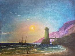 Картины, постеры, гобелены, панно - Морской вид при луне, 0