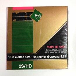 Диски - 10 дискет ИВК 5,25 новые в упаковке , 0
