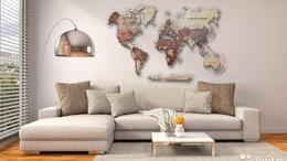 Картины, постеры, гобелены, панно - Карта мира из дерева Йошкар-Ола, 0