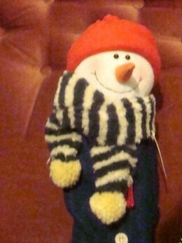 Новогодние фигурки и сувениры - Снеговик на бутылку винтаж 90х, 0