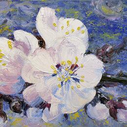 """Картины, постеры, гобелены, панно - Интерьерная картина маслом """"Цветы сакуры"""", 0"""