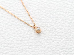 Колье - Колье с бриллиантом из красного золота, 0