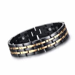 Браслеты - Браслет с магнитными вставками (керамика/сталь), 0