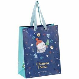 Подарочная упаковка - Пакет подарочный 18*23*10см новогодний, MESHU «Make a wish», отд. фольгой, матов, 0