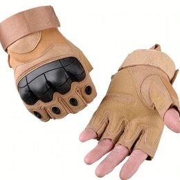 Перчатки и варежки - Перчатки беспалые, тактические OKLAI, бежевые, 0