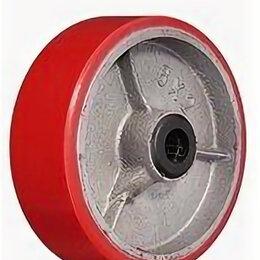Обода и велосипедные колёса в сборе - Колесо 570200 полиуретан. без кронштейна 200мм, 0