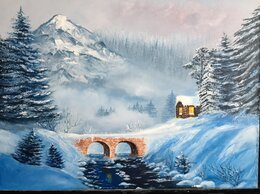 """Картины, постеры, гобелены, панно - Картина """"Зимняя сказка"""", 0"""