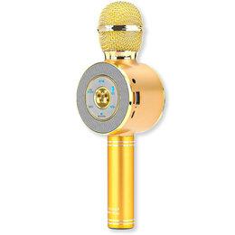 ТВ-приставки и медиаплееры - Беспроводной Bluetooth караоке микрофон Wster WS-668, 0