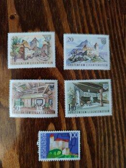 Марки - Серия марок. Лихтенштейн. Архитектура. 1981 год, 0