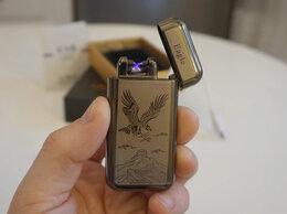 Пепельницы и зажигалки - Зажигалка USB Орёл серебро, 0