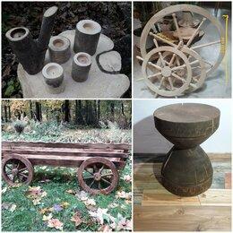 Настенно-потолочные светильники - Светильник деревянный из дерева колесо люстра штурвал, 0