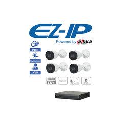 Готовые комплекты - Комплект видеонаблюдения на 4 камеры EZ-IP(IP-POE), 0