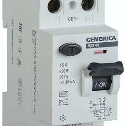 Защитная автоматика - IEK GENERICA устройство защитного отключения УЗО ВД1-63 2Р 16А 30мА MDV15-2-0..., 0