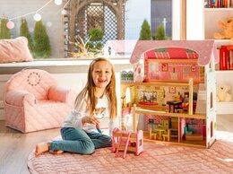 Игрушечная мебель и бытовая техника - Деревянный кукольный домик- Сказочная резиденция, 0