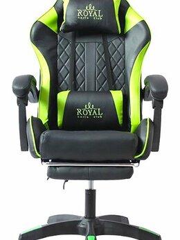 Компьютерные кресла - Геймерское кресло Royal с подножкой. Новое, 0