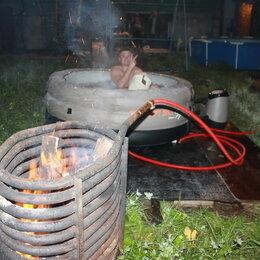 Водонагреватели - Спиральный дровяной водонагреватель для нагрева воды в бассейне , 0