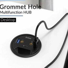 Кабели и разъемы - Заглушка для стола USB,type-c,aux,микрофон, 0