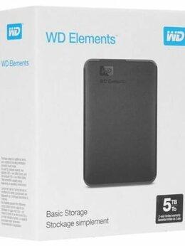 Внешние жесткие диски и SSD - Внешний диск HDD WD Elements Portable 5 Тб, 0