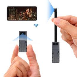 Видеокамеры - Мини видео камера Wi-Fi IP P2P 2 объектива, 0