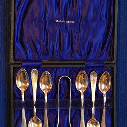 Столовые приборы - Ложки и щипцы для сахара. Англия. 1930-40гг, 0