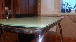 Столы и столики - Стол стеклянный раздвижной цвет нежно зеленный.…, 0