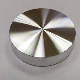 Комплектующие - Алюминиевая опора пятак для УФО склейки стекла D54 с резьбой М8, 0