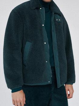 Куртки - Новая Куртка из искусственной овчины бирюзовая, 0