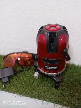 Измерительные инструменты и приборы - Лазерный уровень, нивелир. 5 красных лучей, 0