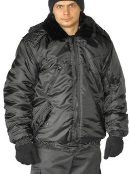 "Одежда - Куртка мужская на поясе ""Охрана"" зимняя черная…, 0"