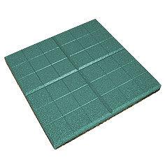 Садовые дорожки и покрытия - Резиновая плитка EcoStep «Сетка» 350х350х20 мм зеленая, 0