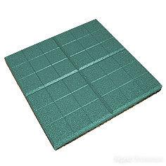 Резиновая плитка EcoStep «Сетка» 350х350х20 мм зеленая по цене 246₽ - Железобетонные изделия, фото 0
