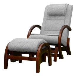 Массажные кресла - Массажное кресло-качалка EGO TWIST EG-2004 CHERRY Серый (TONY13) с пуфом, 0